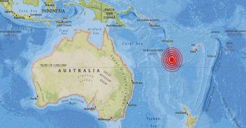 Potente terremoto en Nueva Caledonia provoca alerta de tsunami en el Océano Pacífico
