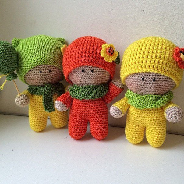 Free Toy Knitting Patterns Only : Amigurumi Little Boys-Free Pattern - Amigurumi Free Patterns