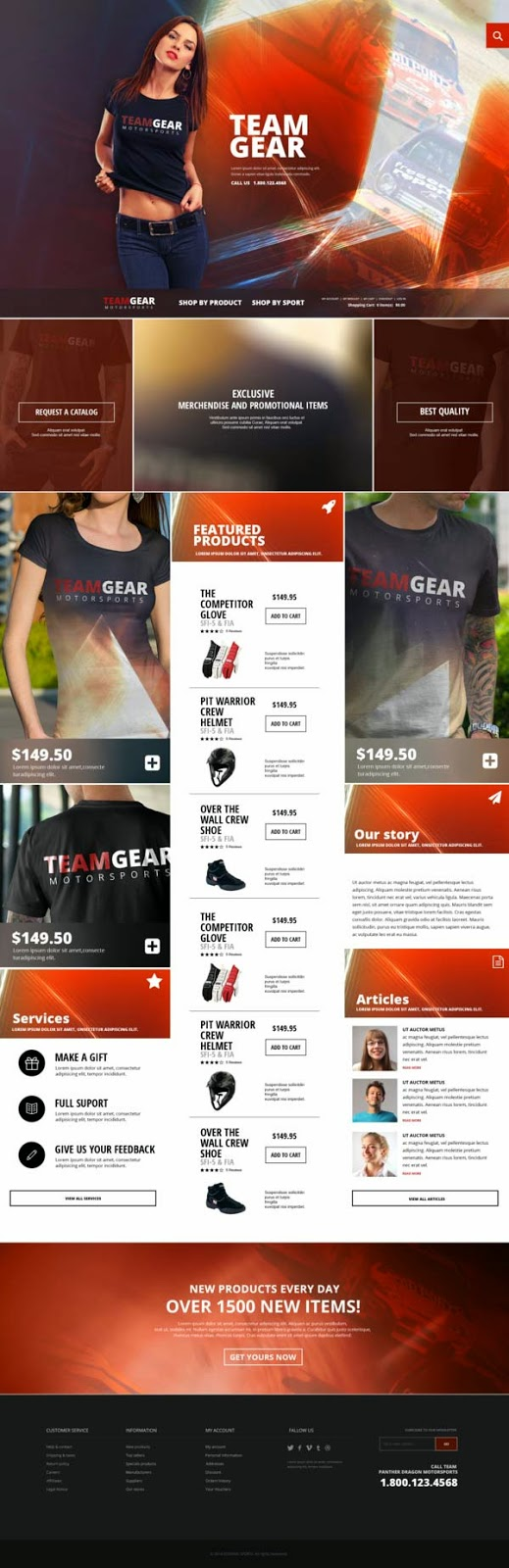 Team Gear – Online Shop Template
