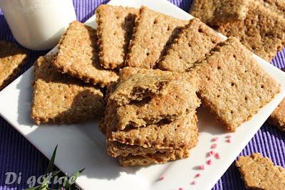 Pełnoziarniste ciastka z olejem dyniowym (z mąki orkiszowej)