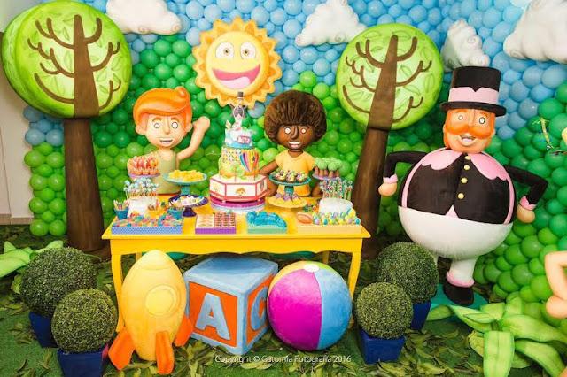 Decoração de festa infantil inspirada no Mundo Bita