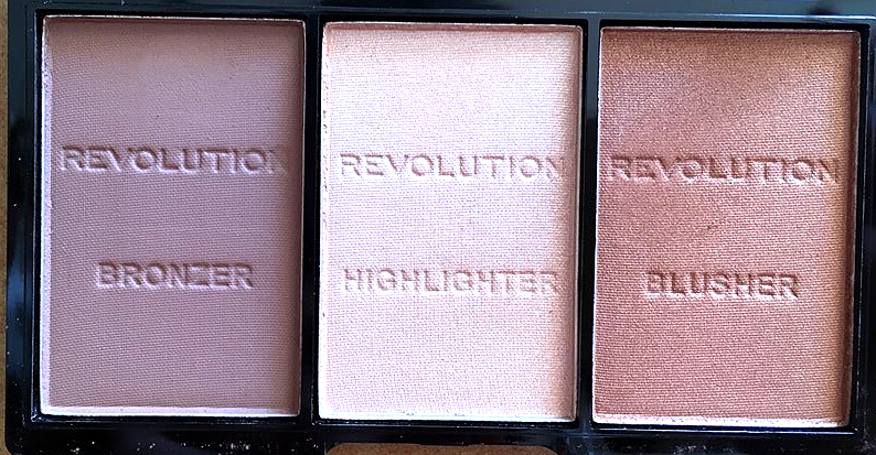 MAKEUP REVOLUTION Ultra Sculpt & Contour Kit + Vivid Baked Blush - REVIEW highlighter