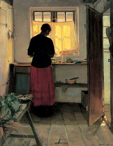 Image result for alone in kitchen paintings