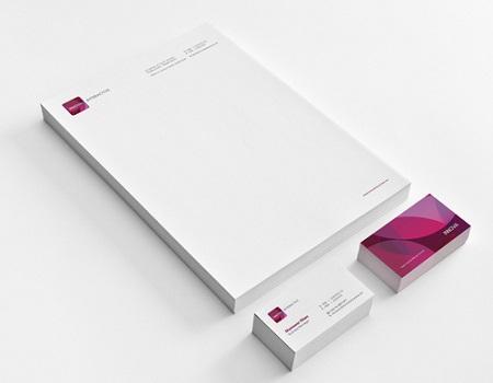Mẫu giấy tiêu đề công ty phù hợp với card visit