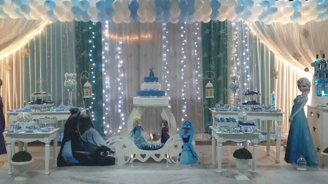 mas fotos de decoracin de fiesta tema frozen