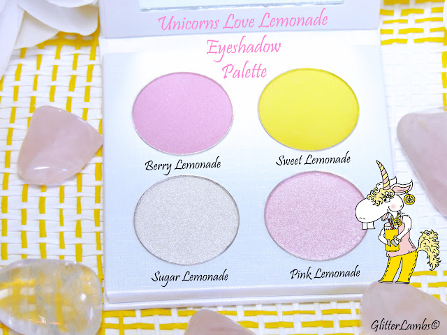 Unicorn's Love Lemonade Eyeshadow Makeup Palette by Glitter Lambs - DIY Makeup Palette