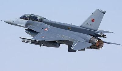 فڕۆكەیەكی F16ی توركیا كەوتە خوارەوە