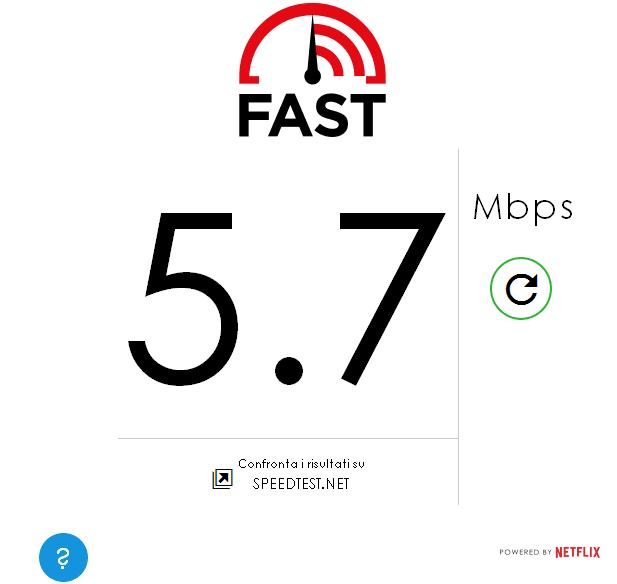 Fast.com di Netflix per misurare velocità connessione internet