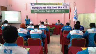 Anggota SPN NTB Ikuti Membership Meeting