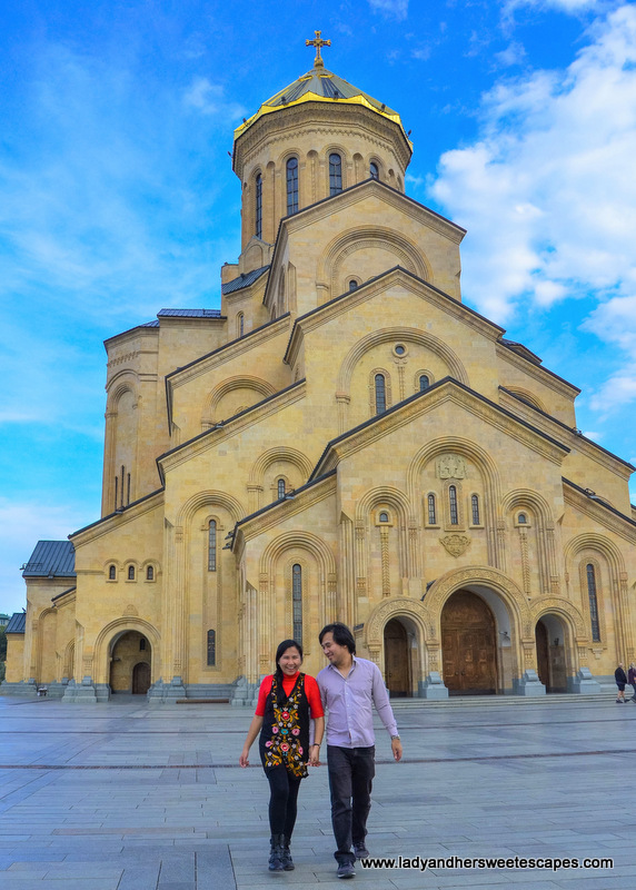 Ed and Lady in Tbilisi Holy Trinity Cathedral