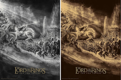 Lord of the Rings: The Two Towers Screen Print by Chris Skinner x Bottleneck Gallery