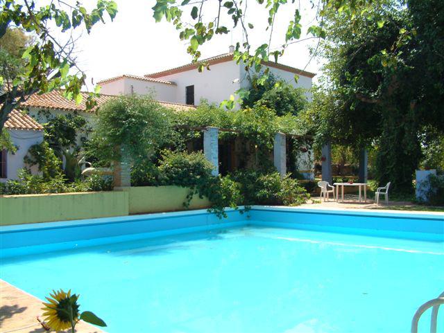 piscina, casa, rural