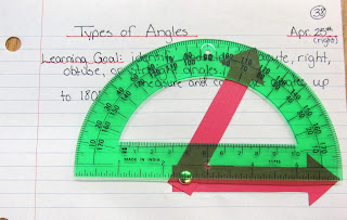 photo of Types of Angles math journal @ Runde's Room