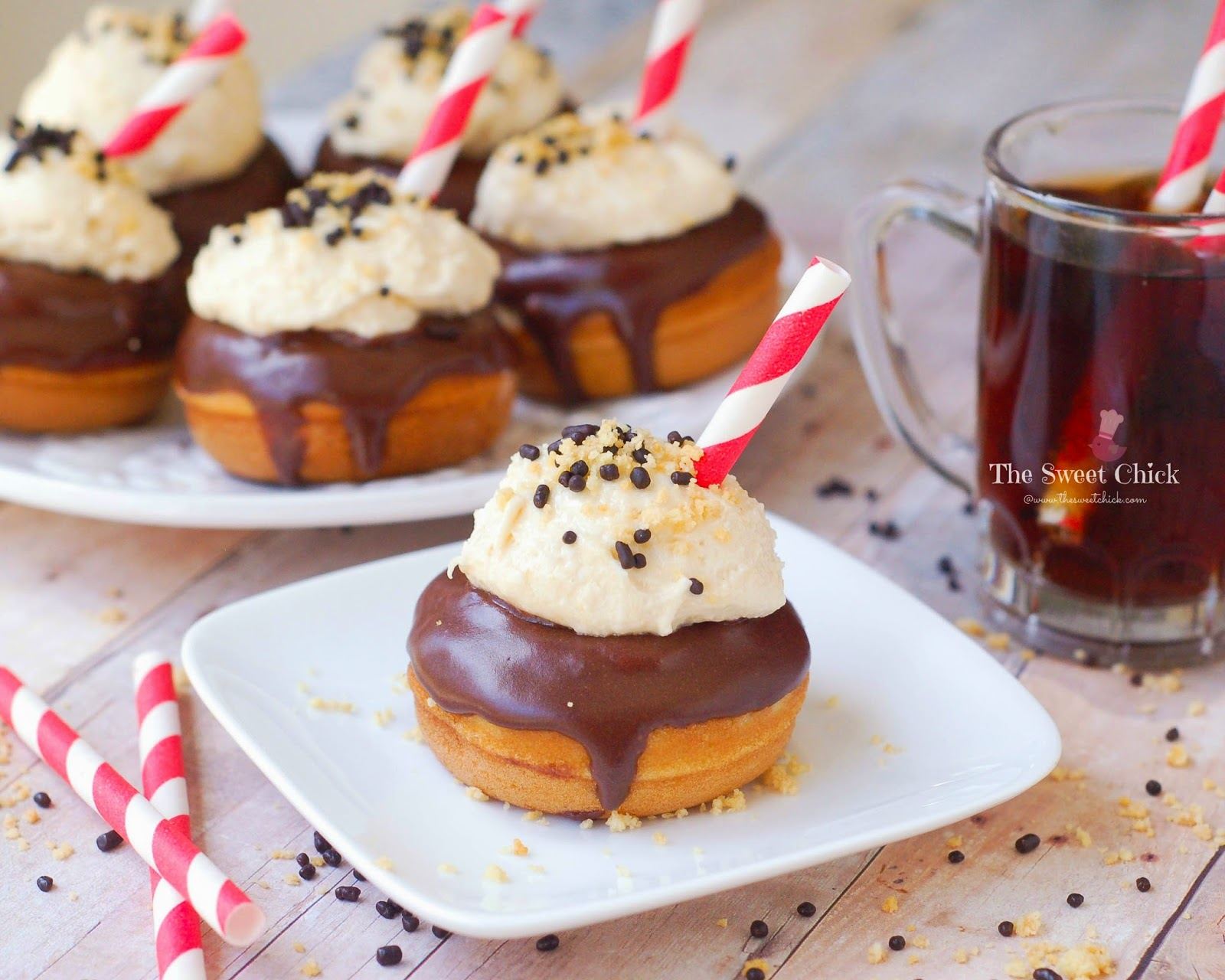 Root Beer Float Mini Donut by The Sweet Chick
