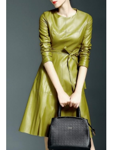 vestido verde clarito