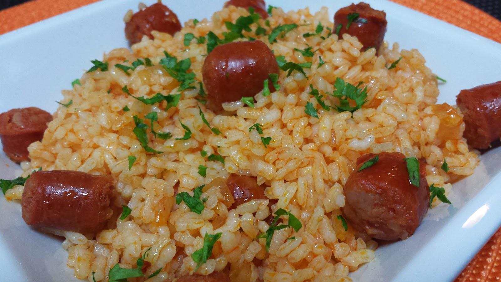 arroz salteado con chistorra