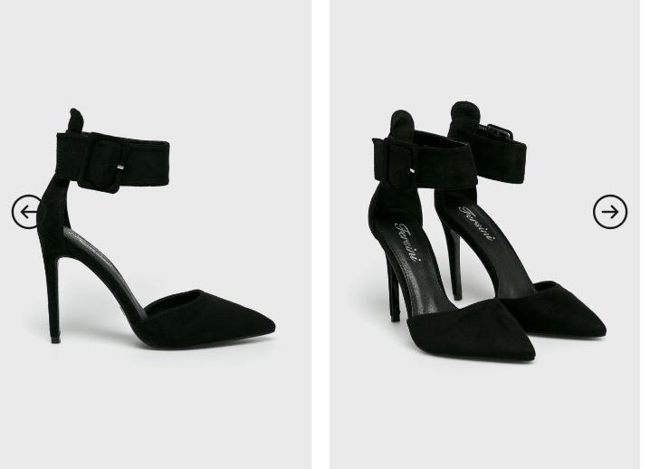 Pantofi cu toc si bareta lata pe glezna elganti la moda ieftini deucpati