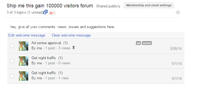 Add a Forum to Your BlogSpot Blogger without nabble