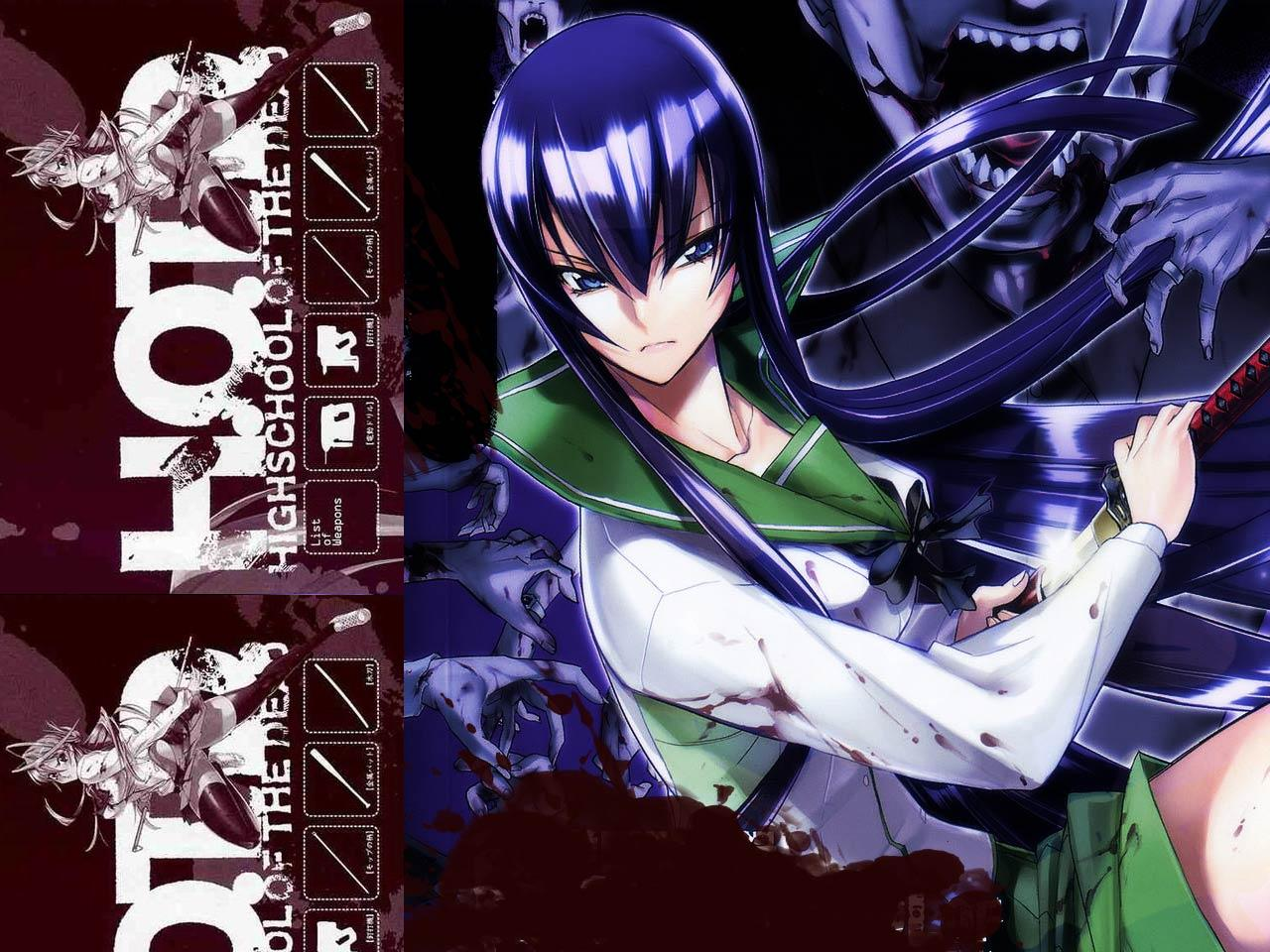Anime Review: H.O.T.D. High School Of The Dead (2010)