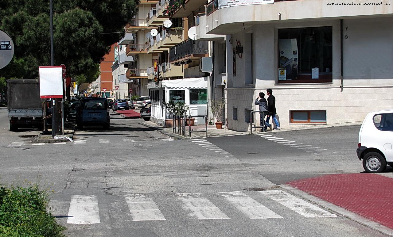 Pista ciclabile di RC direzione Nord, incrocio Via S. Giuseppe