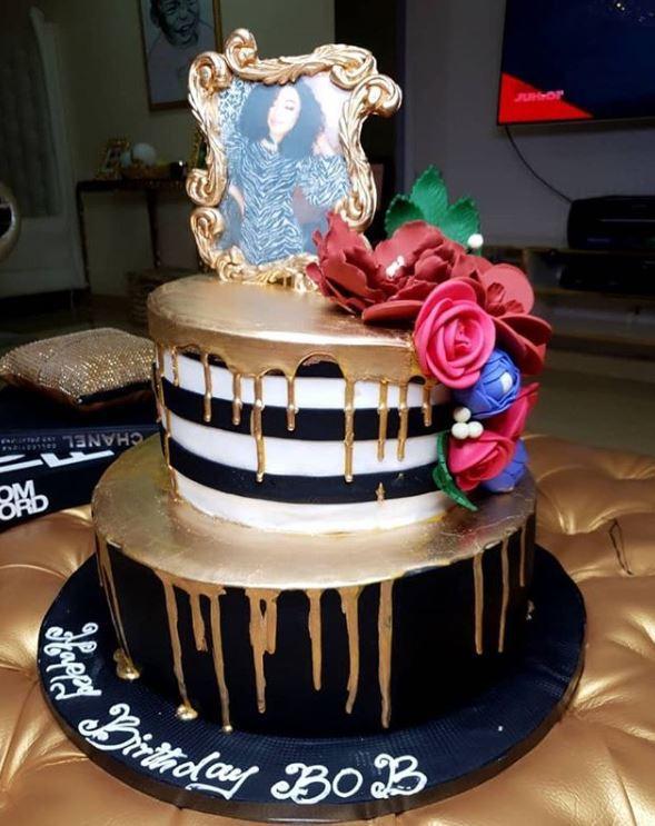 Bobrisky Shows Off The Expensive Birthday Cake Tonto Dikeh Bought