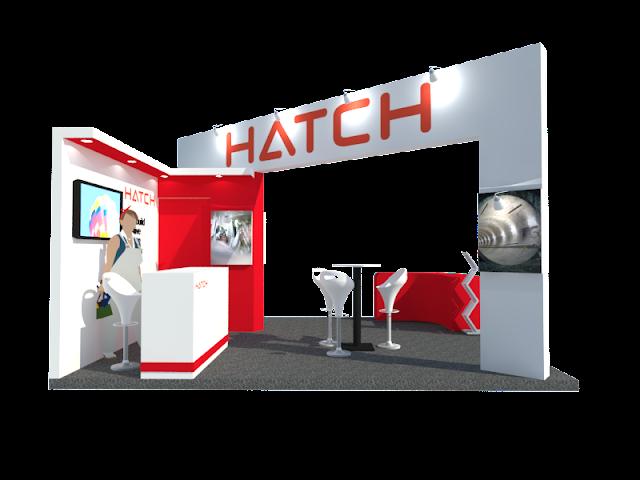 Desain sewa Booth Hatch kontraktor pameran