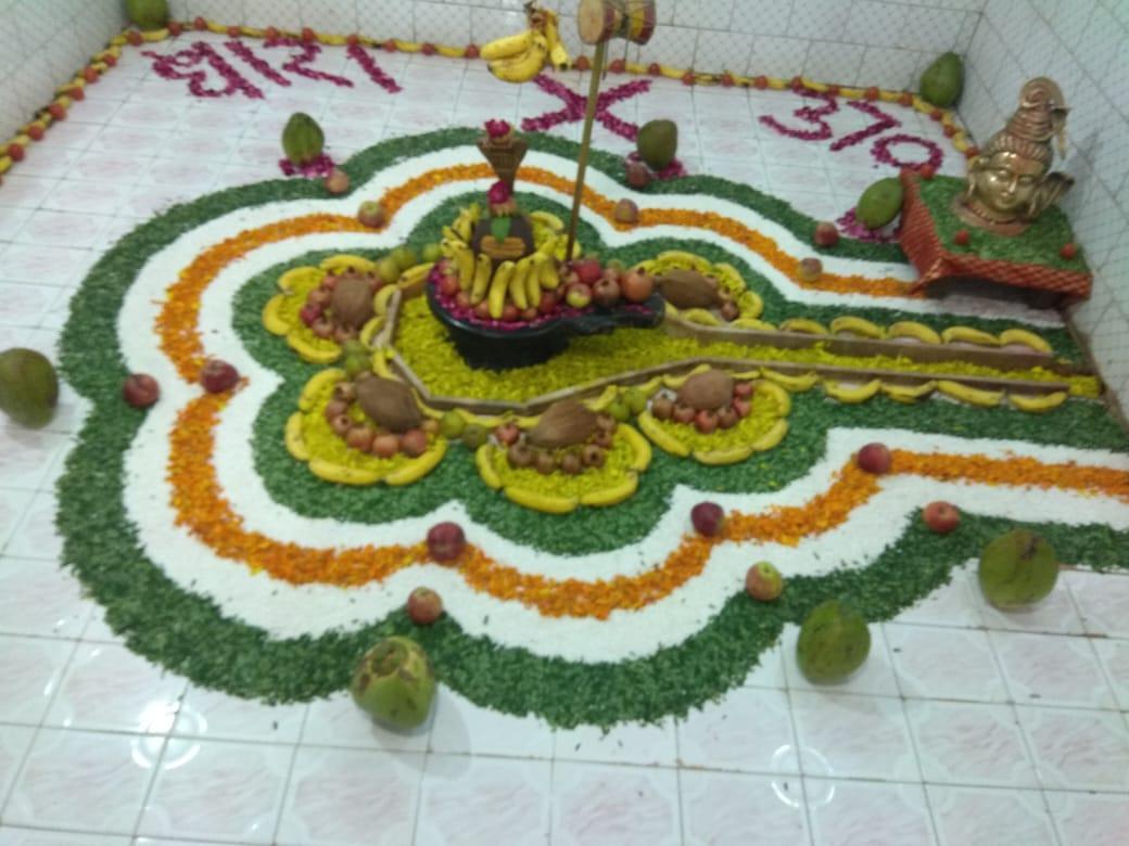 jhabua news-धारा 370 को लेकर उमापति महादेव का किया गया श्रृंगार