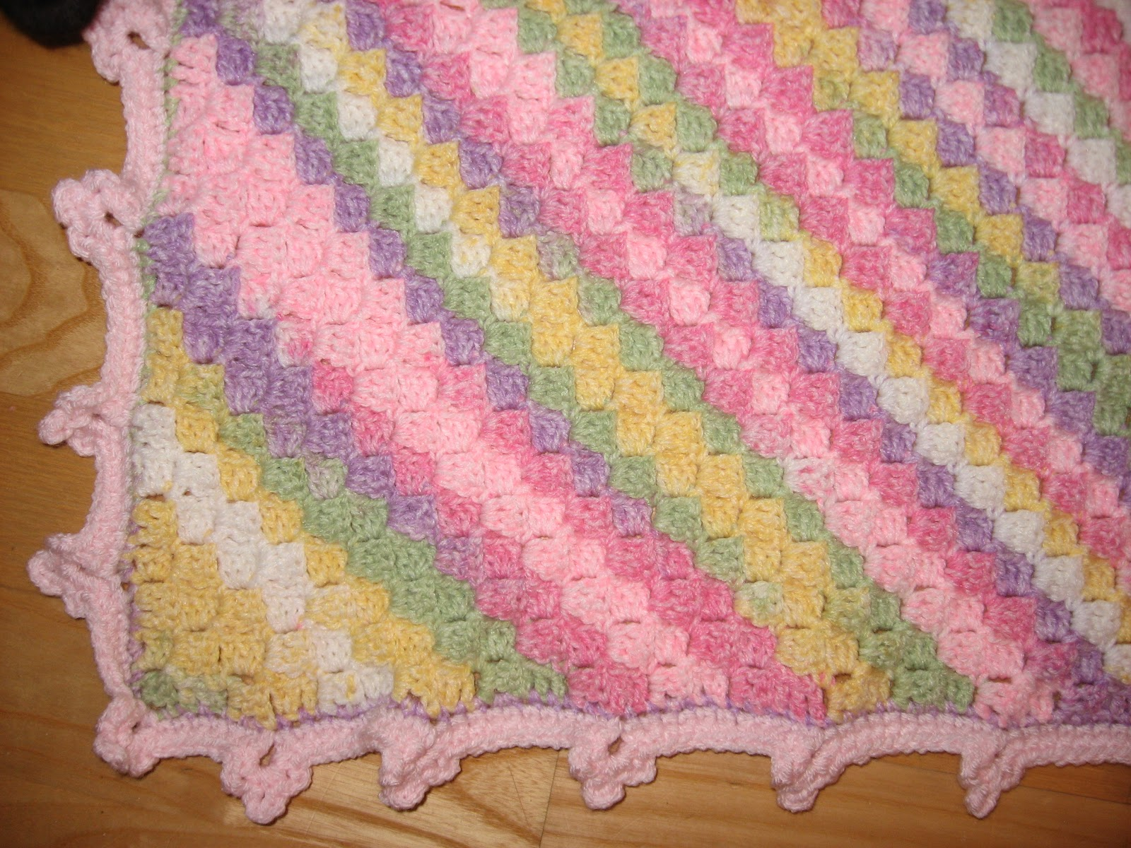 Crochet Projects Pink Box Stitch Blanket