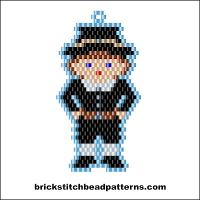 Free Thanksgiving brick stitch seed bead pattern color chart