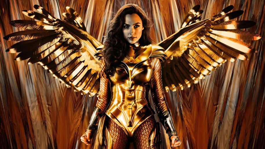 Wonder Woman 1984, Golden Eagle Armor, Wings, 4K, #7.1560