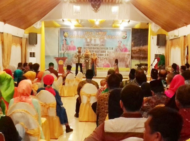Jajaran Pemkab Kepulauan Selayar, Lepas Sambut Pejabat Kapolres