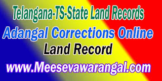 Telangana-TS-State Land Records Adangal Corrections Online
