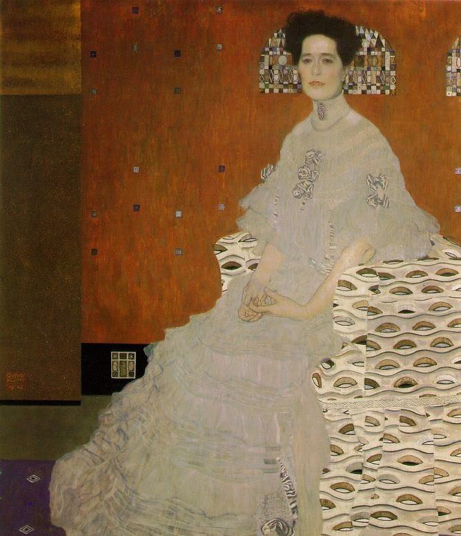 Retrato de Frirza Riedler - Gustav Klimt e suas pinturas ~ Pintor simbolista austríaco