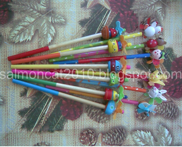 pencils with toy toppers