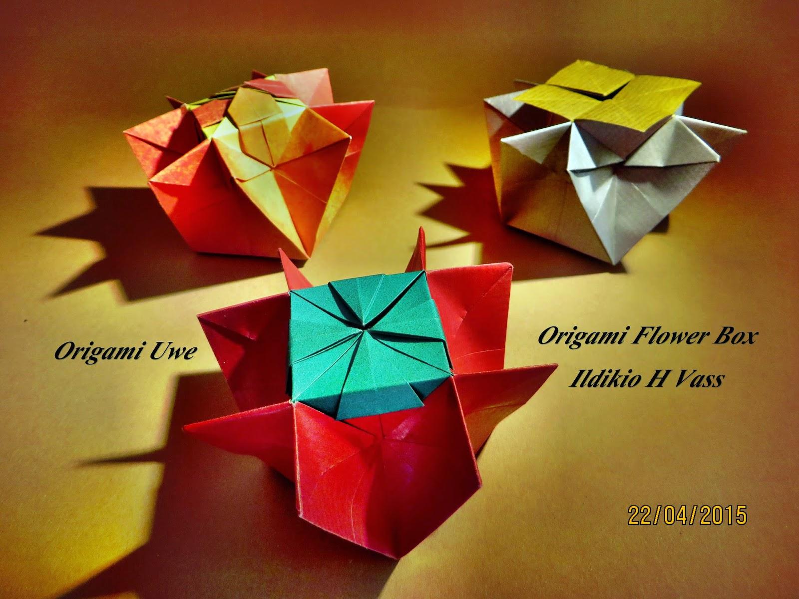 Origami, Fleurogami und Sterne: Origami Flower Box - photo#38