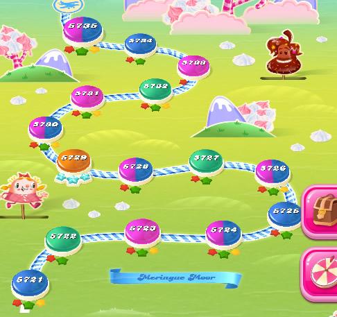 Candy Crush Saga level 5721-5735