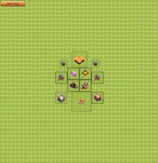Base Clash of Clans Terbaik TH 1 Farming