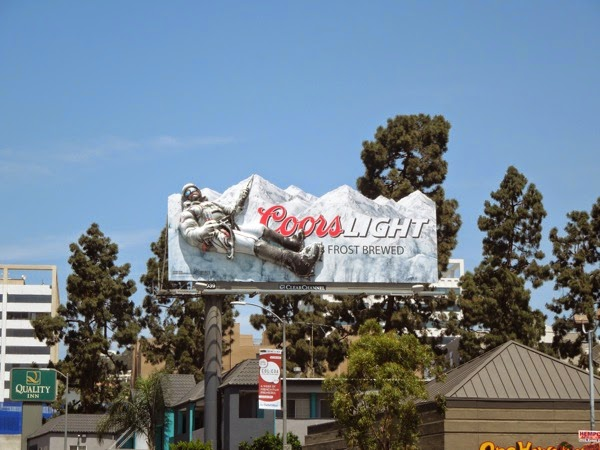 Coors Light mountain climber 3D billboard