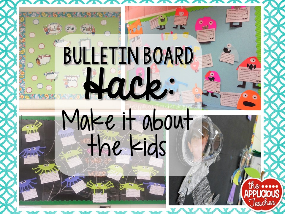 Classroom Design Hacks ~ Bulletin board hacks to save your sanity the applicious
