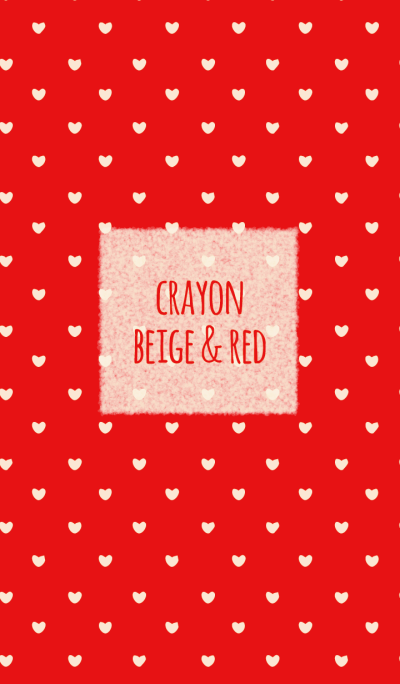 Crayon beige & red 2/ heart