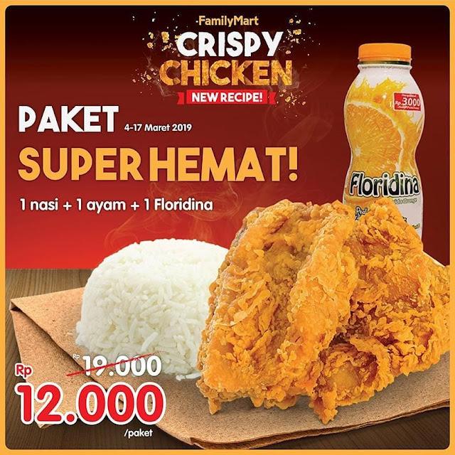 #FamilyMart - #Promo Paket Hemat Crispy Chicke Hanya 12K (04 - 17 Maret 2019)