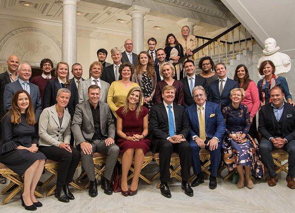 King Willem-Alexander and Queen Maxima of The Netherlands held a lunch at Noordeinde Palace in The Hague