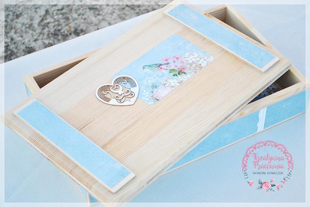pudełko drewniane na zdjęcia