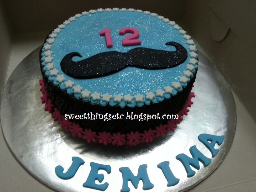 Sweet Things E T C Moustache Cake