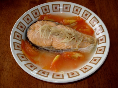 Yummy confinement food steamed salmon steamed salmon forumfinder Images