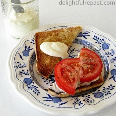 Tomato Sandwich with Homemade Mayonnaise / www.delightfulrepast.com