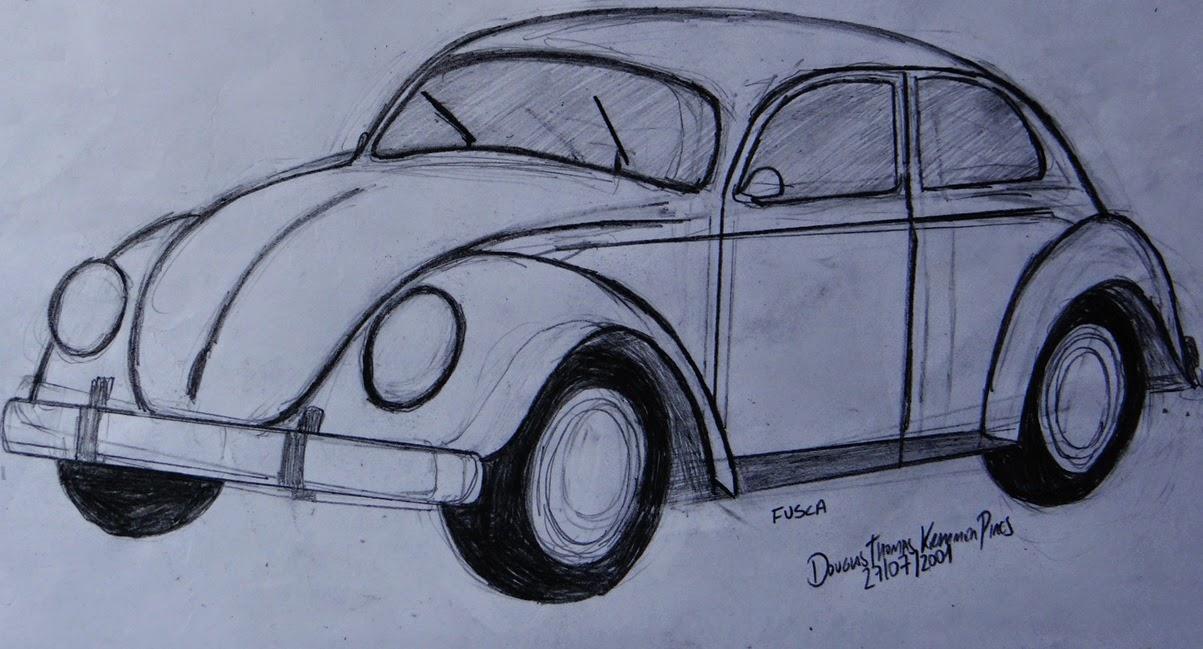 Desenho De Fusca: DTKP ARTES: Desenho Fusca