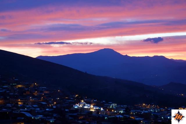Potosí, tramonto dalla Torre de la Compañía de Jesus