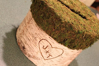 tree bark wedding box
