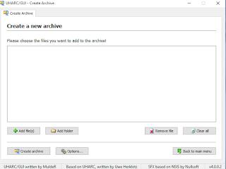 برنامج UHARC GUI لضغط حجم الملفات الكبيرة